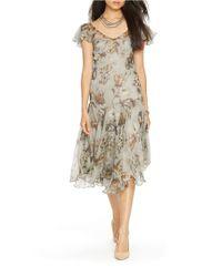 Lauren by Ralph Lauren - Multicolor Dropped-waist Floral Dress - Lyst