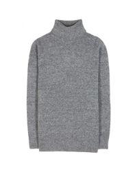 Balenciaga - Gray Oversized Wool-Blend Turtleneck - Lyst