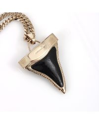 Givenchy - Black Double Chain Shark Tooth Necklace - Lyst