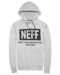Neff - Gray New World Corpo Fleece Hoodie for Men - Lyst