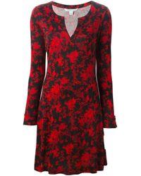 Diane von Furstenberg - Black Floral Print Dress - Lyst