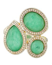 Ippolita - Green Silver And Chrysoprase Ring - Lyst