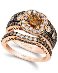 Le Vian | Multicolor Chocolate And White Diamond Bridal Set In 14k Rose Gold (1-7/8 Ct. T.w) | Lyst