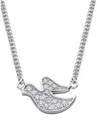 Lord & Taylor | Metallic Angels And Fashion Newness Glitz And Sterling Silver Dove Pendant Necklace | Lyst