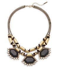 Saks Fifth Avenue | Metallic Black Howlite Chain Statement Necklace | Lyst