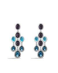 David Yurman   Ultramarine Chandelier Earrings With Blue Topaz And Black Orchid   Lyst