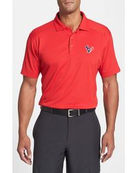 Cutter & Buck | Red 'houston Texans - Genre' Drytec Moisture Wicking Polo for Men | Lyst
