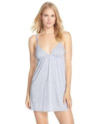 Splendid | Blue 'always' Jersey Chemise | Lyst