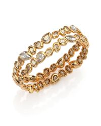 Alexis Bittar | Metallic Elements Moonlight Crystal Two-row Stacked Bracelet | Lyst