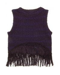 Apiece Apart | Blue Pablita Knit Fringe Tank | Lyst