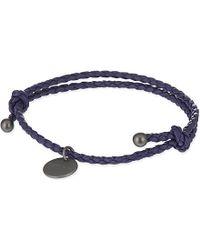 Bottega Veneta   Blue Intrecciato Nappa-Leather Bracelet - For Women   Lyst