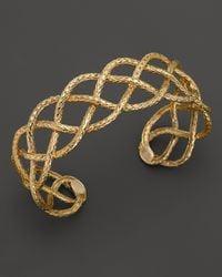 John Hardy | Metallic Classic Chain 18K Yellow Gold Braided Cuff | Lyst