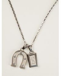 Dolce & Gabbana | Metallic Charm Pendant Necklace for Men | Lyst