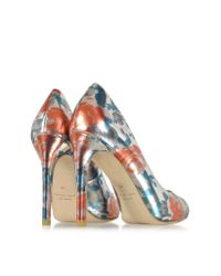 Marc By Marc Jacobs - Blue Jerrie Rose Specchio Persimmon Orange Leather Pump - Lyst
