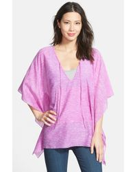 Echo - Purple Heathered Poncho - Lyst