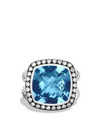 David Yurman | Albion Ring With Hampton Blue Topaz & Diamonds | Lyst