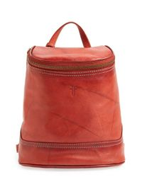 Frye | Red 'small Campus' Leather Backpack | Lyst