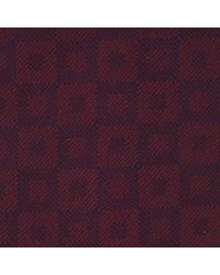 Turnbull & Asser - Purple Outline Squares Burgundy Silk Tie for Men - Lyst