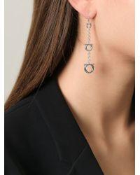Ferragamo | Metallic Gancio Drop Earrings | Lyst
