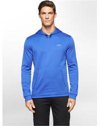 Calvin Klein - Blue White Label Performance Fleece Hoodie for Men - Lyst