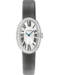 Cartier | Black Baignoire 18ct Whitegold and Diamond Small Watch | Lyst