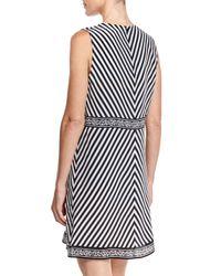 Gottex - Black Costa Brava Multi-striped Dress - Lyst