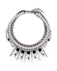 Joomi Lim | Metallic 'high Society' Faux Pearl Crystal Necklace | Lyst