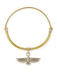 Pamela Love - Metallic Aguila Collar Necklace With Pendant - Lyst
