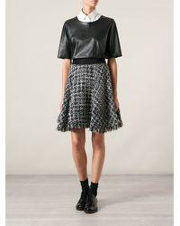 MSGM - Black Fringed Bouclé Skirt - Multicolor - Lyst