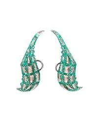 Venyx | Green 'lady Gator' Diamond Earrings | Lyst