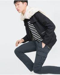 Zara | Blue Cargo Trousers for Men | Lyst