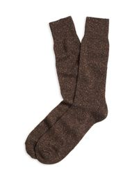 Brooks Brothers | Brown Wool Crew Socks for Men | Lyst
