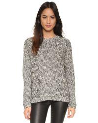 Vince - Gray Drop Shoulder Sweater - Lyst