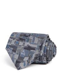 Ferragamo   Gray Zivago Florence Cityscape Classic Tie for Men   Lyst