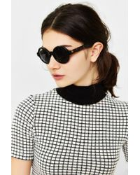 Urban Outfitters | Black Autumn Preppy Round Sunglasses | Lyst