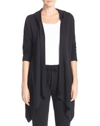 Lauren by Ralph Lauren | Black Hooded Cardigan | Lyst
