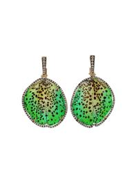 Silvia Furmanovich | Green Resin Orchid Petal Earrings | Lyst