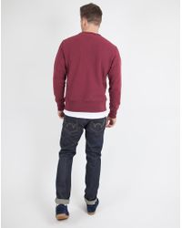 Champion | Purple Reverse Weave Crew Neck Sweatshirt Burgundy for Men | Lyst