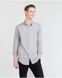 Zara | Gray Skull Print Shirt for Men | Lyst