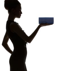 Judith Leiber Couture - Blue New Long Kiss Crystal Clutch Bag - Lyst