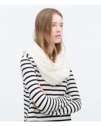 Zara | White Basic Structured Colour Scarf | Lyst