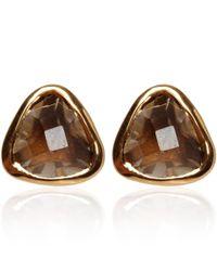 Dinny Hall - Metallic Gold Vermeil Smoky Quartz Jaipur Stud Earrings - Lyst