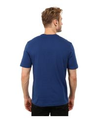 Lacoste - Blue L!ve Short Sleeve V-neck Tee Shirt for Men - Lyst