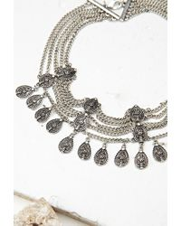 Forever 21 - Metallic Etched Teardrop Choker - Lyst