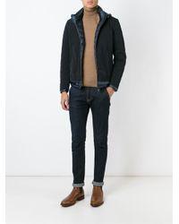 Herno - Blue Padded Zip Jacket for Men - Lyst