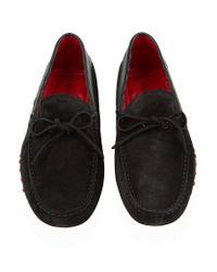 Tod's | Brown Ferrari Carbon Tie Driving Shoe for Men | Lyst