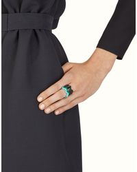 Fendi - Green Rainbow Rings - Lyst
