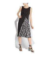Ferragamo - Black Sleeveless Flare Dress - Lyst