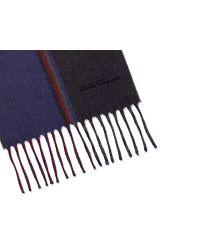 Ferragamo - Blue Stripes Scarf for Men - Lyst