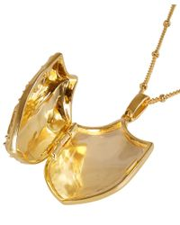 Harlot & Bones - Metallic Gold-Plated Shield Locket - Lyst